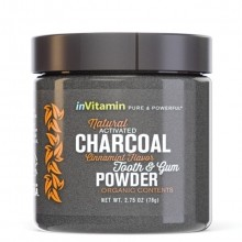 InVitamin Natural Activated Charcoal Tooth & Gum Powder Tandpasta 1 st.