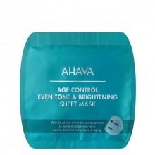 AHAVA Age Control Even Tone & Brightening Sheet Mask Masker 1 st.