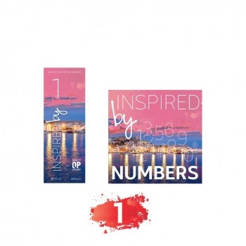 Inspired By Numbers Navulling Number 1 2017 Eau de Parfum Navulling 15 ml