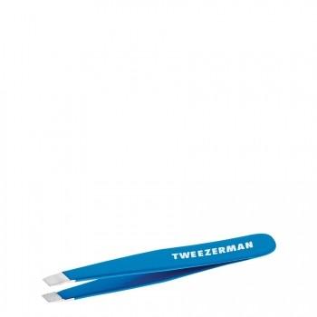 Tweezerman Mini Slant Tweezer Bahama Blue Pincet 1 st